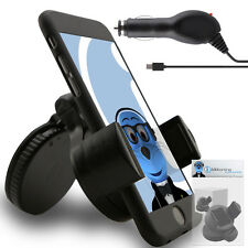 Suction In Car Holder And Micro USB Charger For Alcatel One Touch 606 Chat