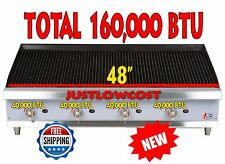 """48"""" Heavy-Duty Durable Stainless Steel Gas Radiant Charbroiler - 160,000 BTU"""