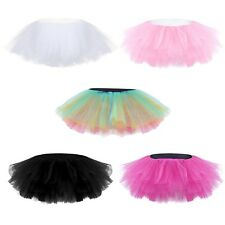 Adult Tutu Fluffy Party Skirt Soft Princess Ballet Pettiskirt Women's Dancewear