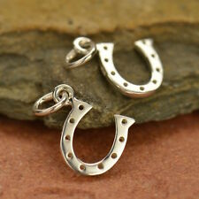925 Sterling Silver Lucky Horseshoe Western Charm Pendant Necklace Horse 582