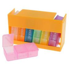 21 Slots 7 Day Colorful Pill Tablet Drug Box Case Organizer Container Holder