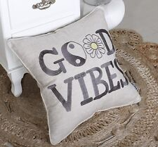 Pillow Cover Good Vibes Throw Cushion Embroidered Bed Pillow case Decorative