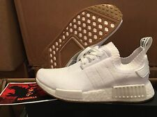 Adidas NMD R1 Triple WHITE GUM Pack Sole Black PK Primeknit Boost BY1888 Sz 8-13