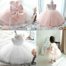 Kids Girls Baby Flower Princess Lace Wedding Party Occasion Pageant Tulle Dress
