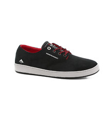 EMERICA ROMERO LACED X INDY BLACK GREY BLACK MENS SKATEBOARD SHOES FREE DELIVERY