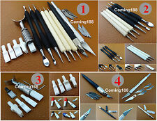 4 Kind Leather Craft Ceramic Blade Swivel Carving Knife Modelling Embossing Tool