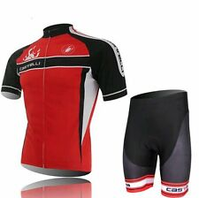 Cycling Short Sleeve  jersey Jacket Padded Shorts Outdoor Bicycle Wear RED