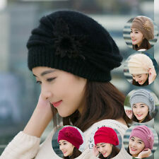 Women Braided Winter Warm Baggy Cap Knit Oversized Slouch Crochet Ski Hat NEW 8