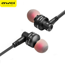 Awei Metal Earphone Stereo Headset In-Ear Noise Reduction Headphone With Mic