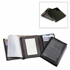 Tri-Fold Lambskin Leather Wallet with Gift Box - A8003 (Black or Brown)