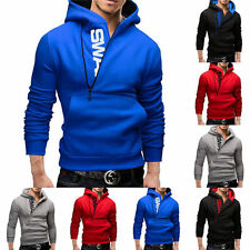 New Men Pullover Hoodie Warm Fleeces Hooded Hoody Sweatshirt Coats Sweats Tops w