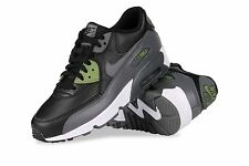 Nike Air Max 90 LTR Black Grey Green 833412-008 Womens Athletic Shoes Multisize