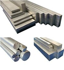 Aluminium Stock Metal Round, Square, Flat Bar - Solid Rod, 50mm upto 600mm long