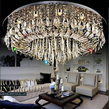Modern Luxury LED Crystal round Pendant Light Ceiling lamp Chandelier Lighting