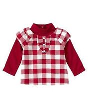 NWT Gymboree Penguin Chalet Plaid Holiday Top Size 12-18 M