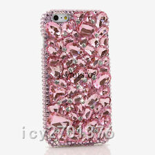 Luxury Jewelled Bling Crystal Full Pink stone Diamond Soft TPU Phone Cover Case