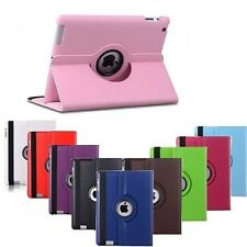 For Apple iPad5(AIR1), iPad6(AIR2) 360° Rotating Smart Stand Leather Case Cover