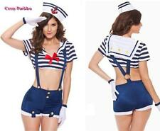 Ladies Sailor Navy Costume 50s Rockabilly Pin UP Fancy Up Party Hotpant Costume