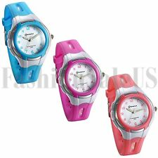 Fashion Jelly Color Kids Children Wrist Watch Boy Girl New Baby Cartoon Watches