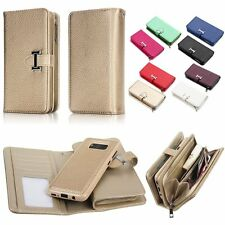 For Samsung Galaxy S8+ Plus Wallet Zipper Detachable PU Leather Phone Case Cover
