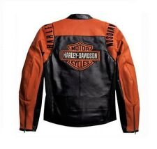 Harley Davidson Mens B&S Racing Perforated Leather Jacket M L LT XL 98123-08VM