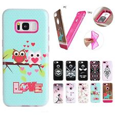 Dual Layer Hard PC+ Soft Silicone Shockproof Protective Cover Case For iPhone