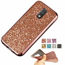 Luxury Slim Glitter Soft TPU Silicone Bling Case Back Cover For MOTO G4/G4 Play