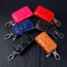 Fashion Unisex Wallet Key Bag Zipper Genuine Leather Car Key Case