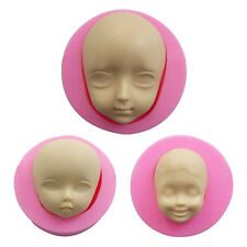 3 Style Cute Baby Face Silicone Soap Mold Candy Cake Fondant Molds Clay Molds