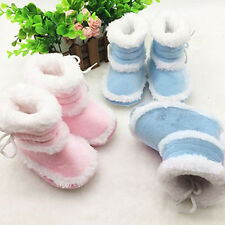 Kids Baby Boy Girl Newborn Infant Toddler Warm Snow Boots Soft Sole Crib Shoes