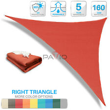 Red Sun Shade Sail Right Triangle UV Block Outdoor Canopy Patio Lawn Pool Deck