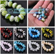 10/20pcs 12mm Lampwork Glass Crystal Jewelry Findings Loose Spacer Faceted Beads