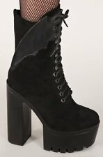 Iron Fist Gothic Goth Witch Creature Of The Night Platform Boot Bat Black