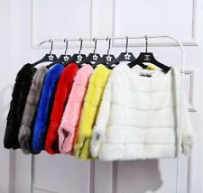 Real Whole Mink Fur Cape Luxury Poncho Shawl With Pocket  Women Winter P0222