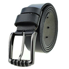 New Men's Genuine Cowhide Leather Business Waistband Waist Pin Buckle Casua Belt