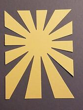 6 Die Cuts:  Sunburst Choose Color  yellow white colors Assorted Sun Ray Shine
