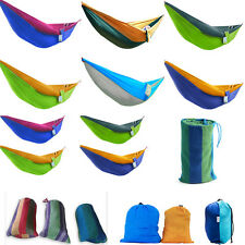 Portable Rope Patio Outdoor Swing Fabric Camping Hanging Hammock Canva Sleep Bed