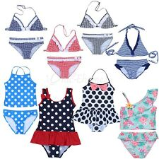Cute Baby Girl Kids Tankini Bikini Set Swimwear Swimsuit Bathing Suit Beachwear