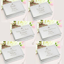 Personalised Silver Engraved Jewellery Boxes Bride Bridesmaid Wedding Gifts