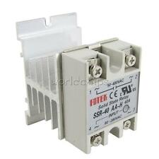SSR-40AA-H 40A Solid State Relay Module 80-280V AC 90-480V  + Aluminum Heat Sink