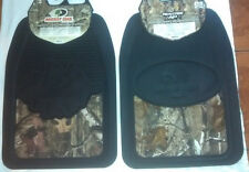 2X~REALTREE AP~OR~MOSSY OAK~CAMOUFLAGE CAMO~FRONT FLOOR MATS~CAR TRUCK SUV~1 SET
