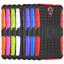 Shockproof Hybrid Heavy Duty Impact Hard Case Cover Stand For HTC Desire 620
