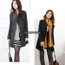 New Korea Slim Fit Women Fashion Coat stand-up Collar Double-breasted DKVP01