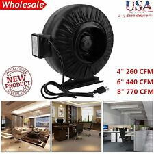 "4"" 6"" 8"" Inch Inline Fan Hydroponics Exhaust Fan Duct Cooling Fan Black New VIP"