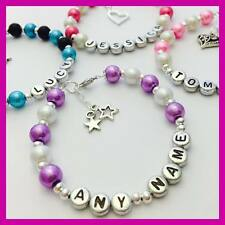 Girls Ladies personalised any NAME bracelet any colour PARTY BAG birthday Gift