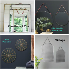 Wall Mirror - Vintage Retro Hanging Portrait  - Zinc Copper Brass - Kiko - Nkuku