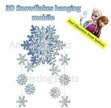 Snowflake 3D mobile Decoration Christmas winter wonderland party in July supply