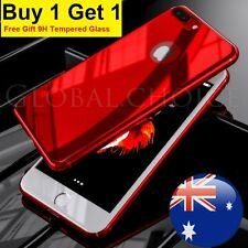 Luxury Slim Mirror Hard Case Cover For Apple iPhone 6 6s 7 Plus Tempered Glass