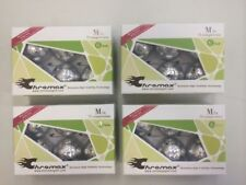Chromax Metallic M1x Box of 6 Metallic Silver Golf Balls, 75 Compression 4-BOXES
