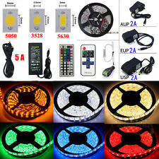 5M 10M 20M LEDs SMD 3528/5050/5630 RGB/White Flexible Strip Light (Remote+Power)